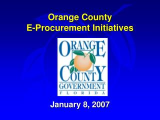 Orange County E-Procurement Initiatives