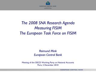 European Task Force on FISIM