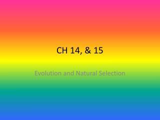 CH 14, & 15