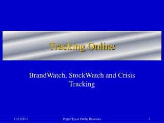 Tracking Online