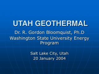 UTAH GEOTHERMAL