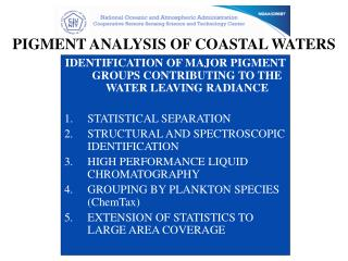 PIGMENT ANALYSIS OF COASTAL WATERS