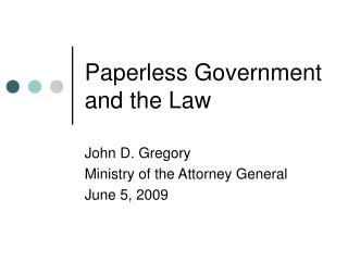 Paperless Government and the Law