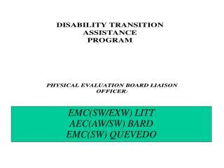EMC(SW/EXW) LITT AEC(AW/SW) BARD EMC(SW) QUEVEDO