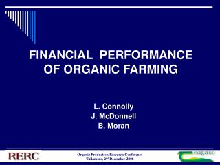 FINANCIAL  PERFORMANCE OF ORGANIC FARMING