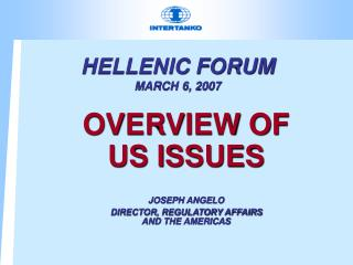 HELLENIC FORUM MARCH 6, 2007