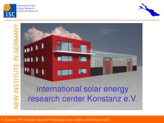 international solar energy research center Konstanz e.V.