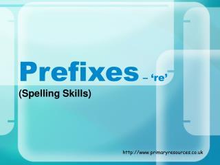 Prefixes  – 're'
