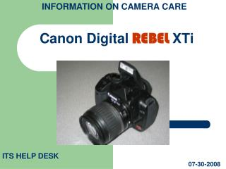 Canon Digital REBEL XTi