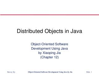 Distributed Objects in Java