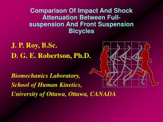 Comparison Of Impact And Shock Attenuation Between Full-suspension And Front Suspension Bicycles
