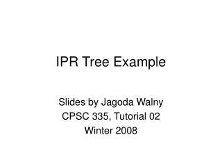 IPR Tree Example