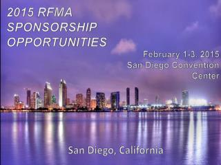 2015 RFMA   SPONSORSHIP  OPPORTUNITIES