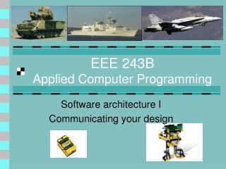 EEE 243B Applied Computer Programming