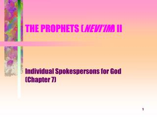THE PROPHETS NEVI IM II