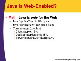 Java is Web-Enabled?