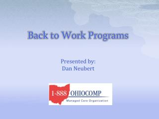 Back to Work Programs