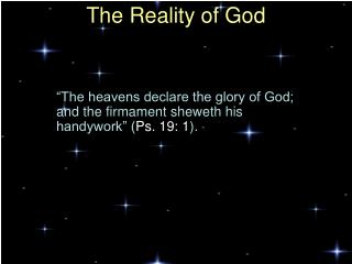 The Reality of God