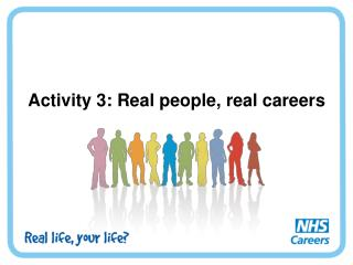 Activity 3: Real people, real careers
