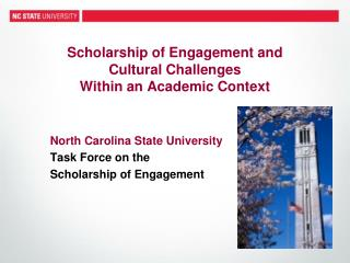 Scholarship of Engagement  and  Cultural  Challenges  Within an Academic Context