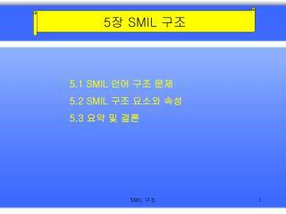 5 장  SMIL  구조