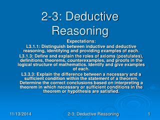 2-3: Deductive Reasoning