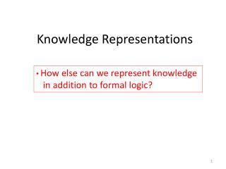 Knowledge Representations