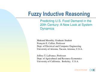 Fuzzy Inductive Reasoning