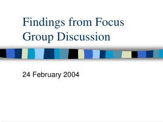 Findings from Focus Group Discussion