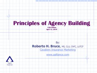 Principles of Agency Building 13th Edition  April 12, 2010
