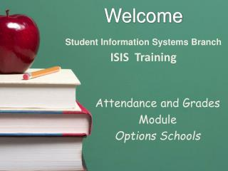 Welcome Student Information Systems Branch ISIS  Training