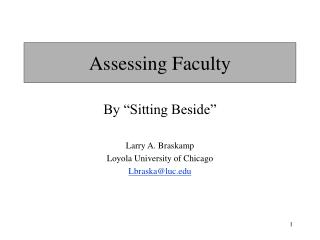 Assessing Faculty