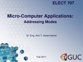 Micro-Computer Applications: Addressing Modes
