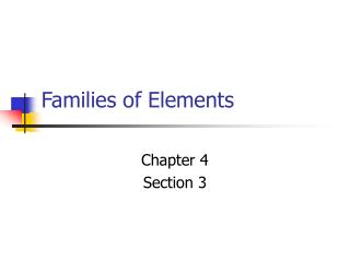Families of Elements