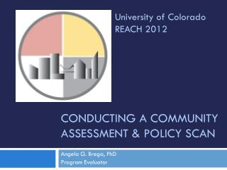 Conducting a Community Assessment & Policy Scan