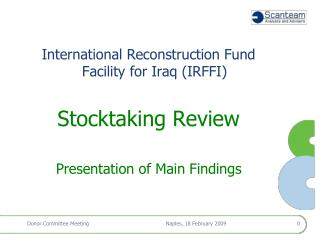 International Reconstruction Fund Facility for Iraq (IRFFI)  Stocktaking Review
