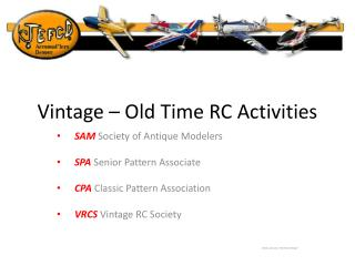 Vintage – Old Time RC Activities
