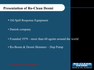 Presentation of Ro-Clean Desmi