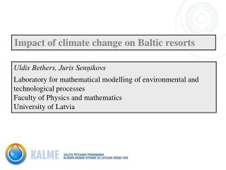 Impact of climate change on Baltic resorts