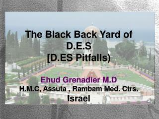 The Black Back Yard of D.E.S [D.ES Pitfalls) Ehud Grenadier M.D H.M.C, Assuta , Rambam Med. Ctrs.