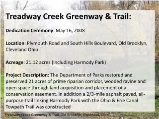 Treadway Creek Greenway & Trail, Old Brooklyn, Cleveland, Ohio