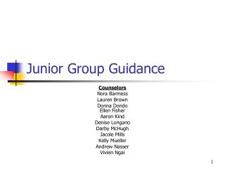 Junior Group Guidance