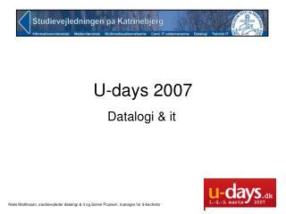 U-days 2007