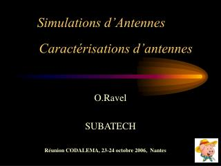Simulations d'Antennes