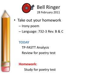 Bell Ringer 28 February 2011