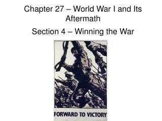 Chapter 27 – World War I and Its Aftermath