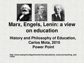 Marx, Engels, Lenin: a view on education