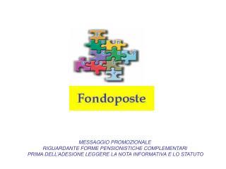MESSAGGIO PROMOZIONALE  RIGUARDANTE FORME PENSIONISTICHE COMPLEMENTARI