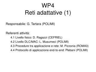 WP4 Reti adattative (1)