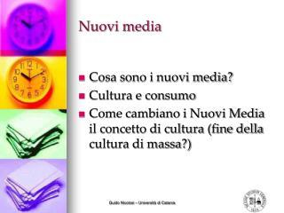Nuovi media